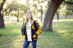 East Central softball all-stater/cheerleader/valedictorian Kirsten Wiatrek