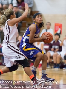Brackenridge senior  Miranda Acuna led the Eagles with 17 points against Leander Rouse.