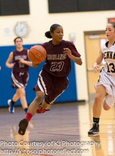 Highlands guard Aaliyah Prince scored 22 points against Edison.