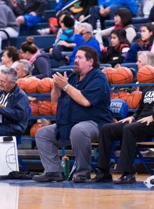 Lanier coach Rudy Bernal applauds his team's play during a recent game