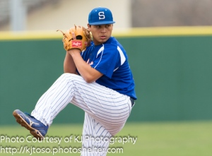 Isaac Lugo was the winning pitcher in South San's 4-3 decision over Brandeis in the NEISD Tournament.