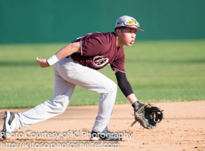 Highlands shortstop Bryan Ortega hones in on a grounder Feb. 27 against Taft.