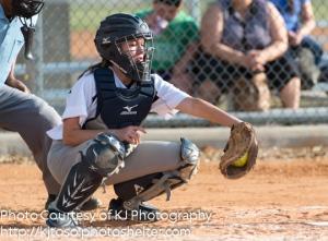 Providence catcher Marissa Olvera frames a pitch.