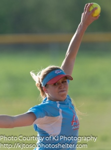 Antonian freshman Tarin Travieso was the winning pitcher and helped her cause by hitting a home run.