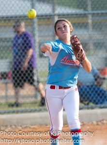Antonian's Brittany Gonzalez throws across the infield.