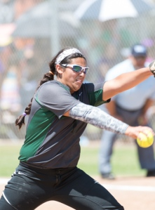 Junior Caitilin Terrazas allowed five hits as a pitcher and drove in two runs at the plate in Southwest's Game 2 win over San Marcos.