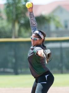 Southwest junior Caitlin Terrazas delivers a pitch against San Benito.