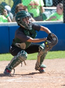 Dragons senior catcher Gabby Flores.