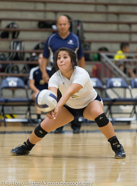Holy Cross junior Victoria Gonzalez produced seven digs against rival Providence.
